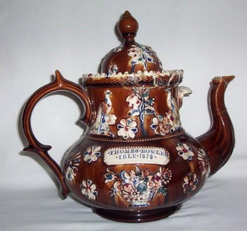 Measham Barge Ware Teapot IBLE 1878